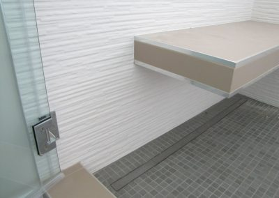 Trench Drain and Cantilevered Bench