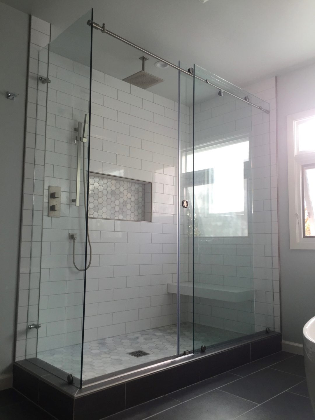 Frameless Sliding Glass Door Shower