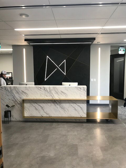 Reception Desk Logo Wall