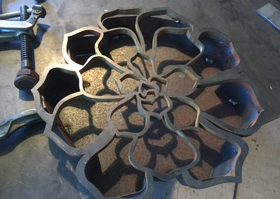 Steel Flower Pot