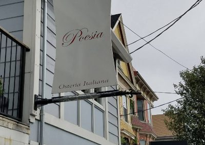 Poesia Restaurant Sign