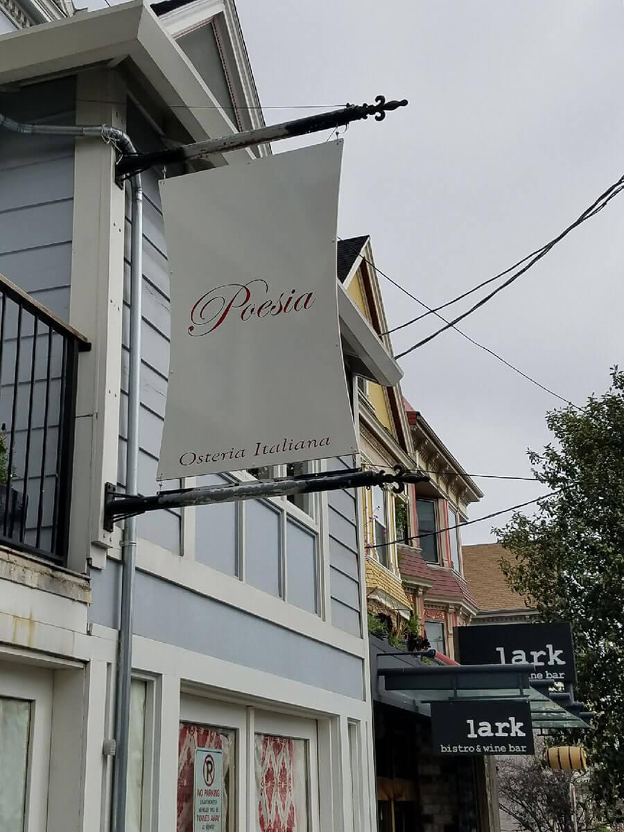 Poesia Restaurant Sign