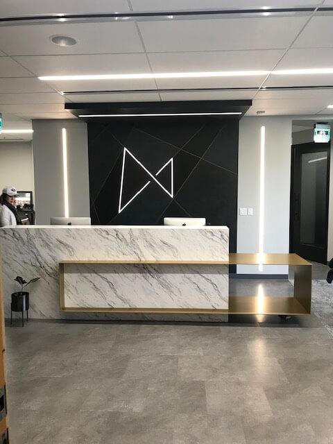 Reception Desk Logo Wall